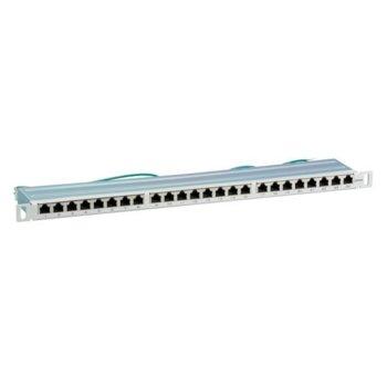 """Пач панел EFB Elektronik 37666.5V1, 24x порта, 19"""", 0.5U, екраниран, Cat.6A, IDC T568A/T568B, FTP, сив image"""