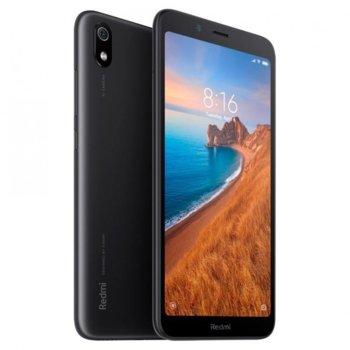 "Смартфон Xiaomi Redmi 7A (черен), поддържа 2 sim карти, 5.45"" (13.84 cm) IPS LCD дисплей, осемядрен Snapdragon 439 2.0 GHz, 2GB RAM, 16GB Flash памет (+ microSD слот), 13.0 & 5.0 MPix камера, Android, 165g image"