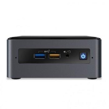 Мини компютър Barebone Intel NUC Kit NUC8i5BEH, четириядрен Coffee Lake Intel Core i5-8259U 2.3/3.8GHz, без памет (2x SODIMM DDR4, до 32GB), без HDD (M.2 SSD, 2x SATA 3), Wi-Fi, LAN, Bluetooth, USB-C 3.1 image