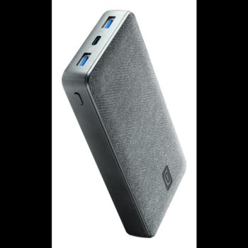 Външна батерия /power bank/ Cellularline Shade Laptop (PBSTYLEIT20000D), 20000mAh, 2x USB-A, 1x USB-C, сива image