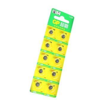 Батерии алкални GP LR-41, 1.5V, 10 бр., цена за 1  product