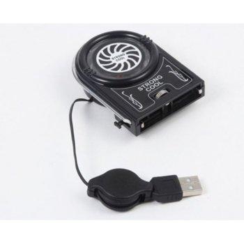 Охлаждаща поставка за лаптоп FYD-738, универсална, USB, черна image
