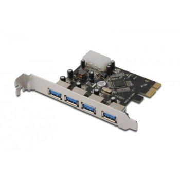 Контролер PCI-E към USB 3.0, 4 port image