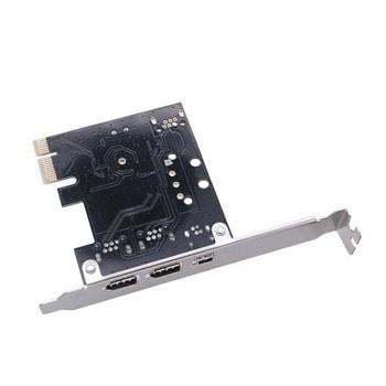 Контролер Estillo EST-PCI-ex-1394-LP, от PCIe x1 към 4x IEEE1394 (FireWire) image