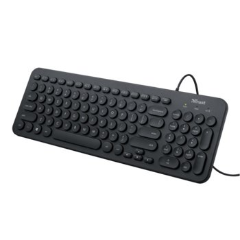 Клавиатура Trust Muto Silent, кирилизирана, черна, USB image