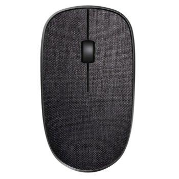 Мишка Rapoo 200 Plus multi-mode, оптична (1300 dpi), безжична, USB, Bluetooth, черна, с покритие от плат image