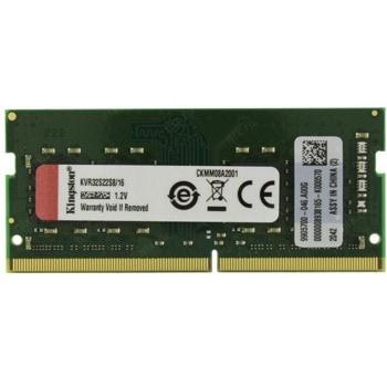 Памет 16GB 3200MHz, SO-DIMM, Kingston KVR32S22S8/16, 1.2V image
