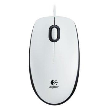 Мишка Logitech M100, оптична (1000dpi), бяла, USB image