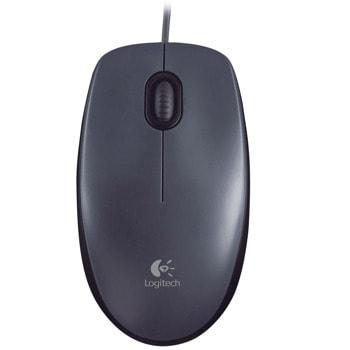 Мишка Logitech M90, оптична (1000dpi), USB, черна image