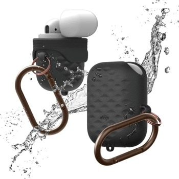Защитен калъф Elago Waterproof Active Hang Case за Apple Airpods / Apple Airpods 2, водоустойчив (IP67), черен image