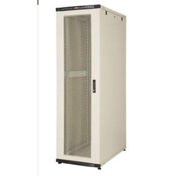 """Комуникационен шкаф Lande LN-CS42U8080-BL-541, 19"""", 42U, 800 x 800 мм, перфорирана врата, LCD термометър, черен image"""
