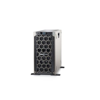 Сървър Dell PowerEdge T340 (PET340CEE02), четириядрен Coffee Lake Intel Xeon E-2134 3.5/4.5 GHz, 16GB DDR4 ECC UDIMM, 4TB HDD, 2x 1GbE, 2x USB 3.0, 1x 495W image