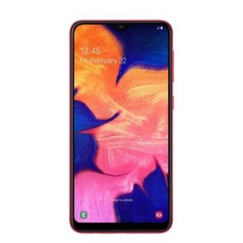 "Смартфон Samsung Galaxy A10 (2019) SM-A105F (червен), поддържа 2 sim карти, 6.2"" (15.75 cm) IPS дисплей, осемядрен Exynos 7884 1.6 GHz, 2GB RAM, 32GB (+microSD слот), 13.0 & 5.0 MPix камера, Android, 168 g image"