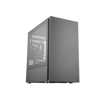 Кутия Cooler Master SILENCIO S400 TG, Mini ITX/Micro ATX, USB 3.2 Gen 1, с прозорец, черна, без захранване image