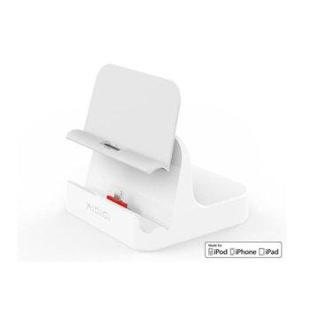 Докинг станция KiDiGi Case Compatible Sync & Charge с Lightning, конектор за iPhone/iPod/iPad, micro USB image