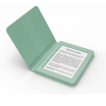 "Електронна книга Bookeen SAGA, 6""(15.24 cm) E-Ink Carta мултитъч дисплей, Wi-Fi, Cortex A8 1GHz процесор, 8GB Flash памет, micro USB 2.0, microSD слот, вграден жироскоп, зелена image"