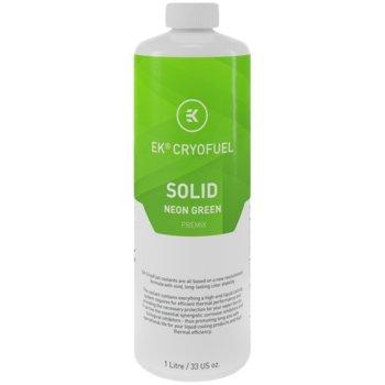 Течност за водно охлаждане Ekwb EK-CryoFuel Solid Neon Green Premix, 1000ml, зелена image