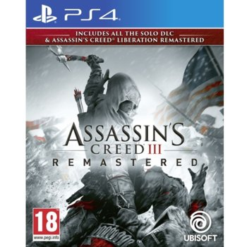 Игра за конзола Assassin's Creed III Remastered + All Solo DLC & Assassin's Creed Liberation, за PS4 image