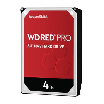 "Твърд диск 4TB Western Digital Red Pro WD4003FFBX, SATA 6Gb/s, 7200 rpm, 256MB кеш, 3.5"" (8.89 cm) image"