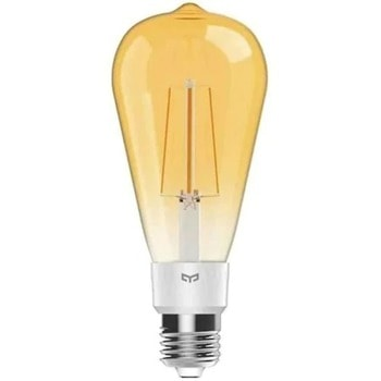 LED смарт крушка Xiaomi Yeelight ѕmаrt LЕD Fіlаmеnt bulb (YLDP23YL), E27, 6W, 500lm, Wi-Fi, 2700K цветна температура, съвместима с Android image