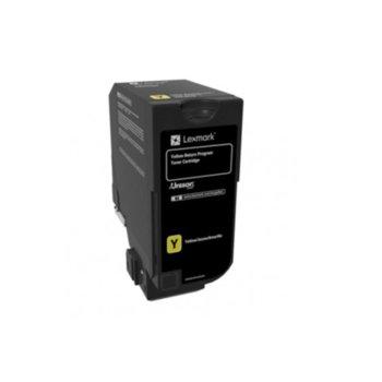 Касета за Lexmark CS720de / CS720dte / CS725de / CS725dte / CX725de / CX725dhe / CX725dthe - Yellow - P№ 74C20Y0 - 3 000K image