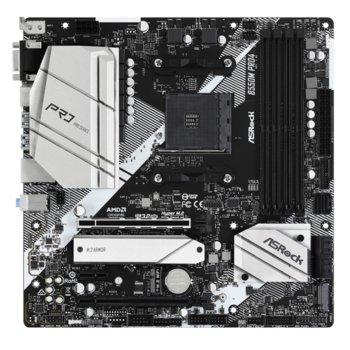 Дънна платка ASRock B550M Pro4, AM4, B550, DDR4, PCI-E 4.0, (DisplayPort&HDMI&VGA),(CFX), 6x SATA 6Gb/s, 1x M.2, 1x USB 3.2 Gen 2 Type-C, mATX image