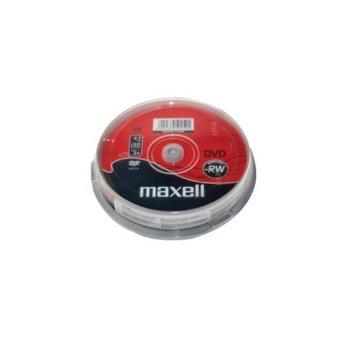 Оптичен носител DVD-RW media 4.7Gb, MAXELL, 10бр. image