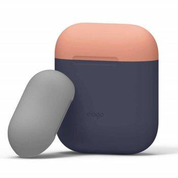 Калъф за слушалки Elago Duo Silicone Case EAPDO-JIN-PEMGY, за Apple AirPods, силиконов, тъмносин image