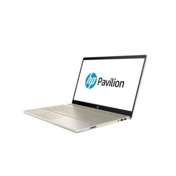 "Лаптоп HP Pavilion 15-cs2002nu (7JY25EA)(златист), четириядрен Whiskey Lake Intel Core i7-8565U 1.8/4.6 GHz, 15.6"" (39.62 cm) Full HD Anti-Glare IPS Display & GF MX250 2GB, (HDMI), 8GB DDR4, 256GB SSD, 1x USB 3.1 Type C, Free DOS  image"