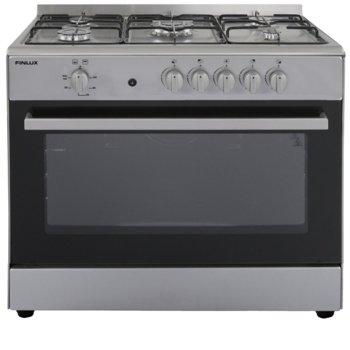 Готварска печка мини Finlux G-9060IX, енергиен клас A, 5 нагревателни зони, 112л. обем, инокс image