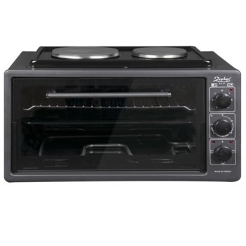 Готварска печка ZEPHYR ZP 1441 T50HP, 3900W, 50 л. обем, 2 котлона, енергиен клас A, Черен image