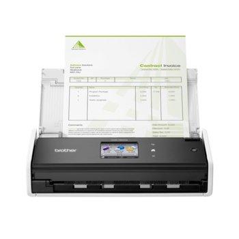 Скенер Brother ADS1700W, 600 x 600 dpi, A4, 25 ppm, двустранно сканиране, ADF, USB 2.0 image