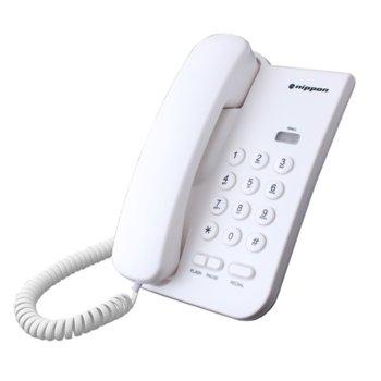 Стационарен телефон Nippon NP 2035, 1 линия, бял image