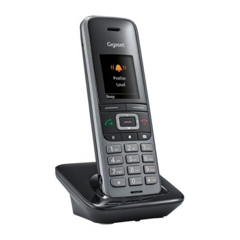 Безжичен телефон Gigaset S650H PRO, осемредов цветен дисплей, светеща клавиатура, Bluetooth, вибрация, сив image