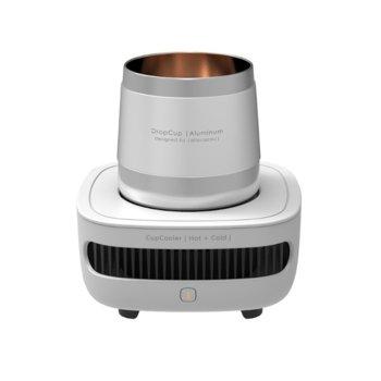 Чаша за охлаждане / затопляне Allocacoc CupCooler  Hot+Cold  11042WT, съвместим с кенчета и бутилки, DC12V /3A, бяла image