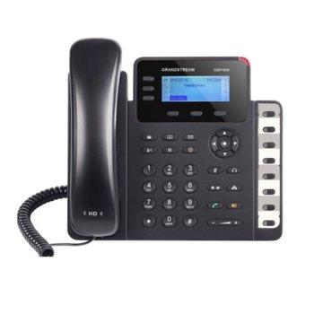 """VoIP телефон Grandstream GXP1630, 2.98"""" (7.56 cm) дисплей, 3 линии, 2x LAN10/100/1000, PoE, черен image"""