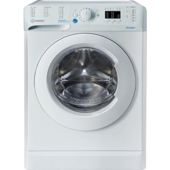 Перална машина Indesit BWSA 61051 W EU N, клас A+, 6 кг, 1000 оборота в мин., 16 програми, свободностояща, 59.5 sm, бял image