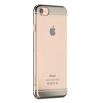 Калъф за Apple iPhone 7, страничен протектор с гръб, поликарбонат, Devia Glimmer2, златист image