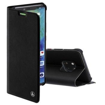 Калъф за Huawei Mate 20 Pro, полиуретан, тип Flip Wallet, Hama Slim Pro, черен image