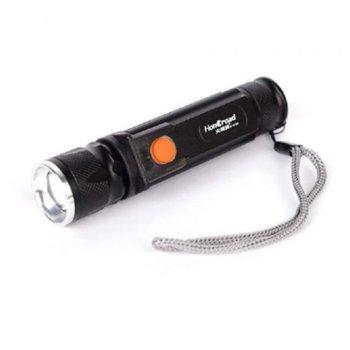 Фенер Royal 5153 Midi ZOOM, вградена батерия, 2 светодиода, функция ZOOM, 5 режима на работа, алуминиев корпус, черен image
