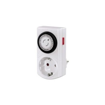 Контакт/таймер Hama Mini 121950, 24 степени, защита за деца, 3500W максимална управляема мощност image