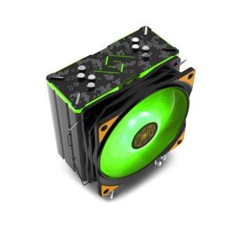 Охлаждане за процесор DeepCool GAMMAXX GT TGA, съвместимост със Intel LGA20XX/LGA1366/LGA115X & AMD AM4/AM3+/AM3/AM2+/AM2/FM2+/FM2/FM1/APU A12/A10/A8/A6/A4 image