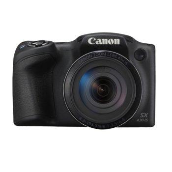 """Фотоапарат Canon PowerShot SX430 IS(черен), 45x оптично увеличение, 20.5 Mpix, 3.0"""" (7.62cm) LCD дисплей, Wi-Fi, USB mini(TypeB), SDXC слот image"""