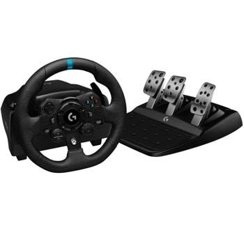 Волан с педали Logitech G923 (941-000149), USB, черни/сиви, за PS4 image