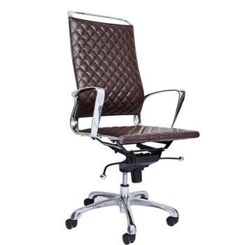 Директорски стол RFG Ell HB, екокожа, кафява седалка, кафява облегалка image