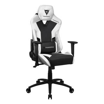Геймърски стол ThunderX3 TC3 All White, до 150кг, газов амортисьор, люлеещ механизъм, бял image