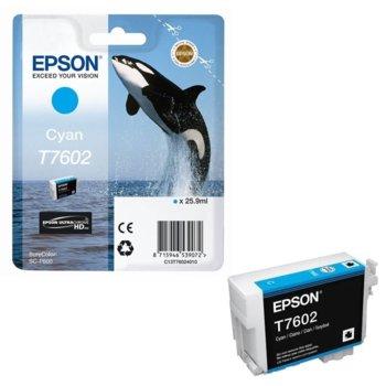 Касета за Epson SureColor SC-P600 - Cyan - T7602 - P№ C13T76024010 - 25.9ml image