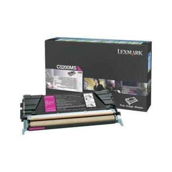 Касета за Lexmark C520, C530 series - PN: C5200MS - Magenta - заб.: 1 500k image