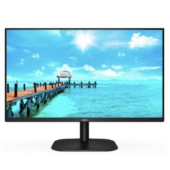 """Монитор AOC 27B2H/EU, 27"""" (68.58 cm) IPS панел, 75 Hz, Full HD, 4 ms, 20000000 :1, 250 cd/m2, HDMI, VGA image"""