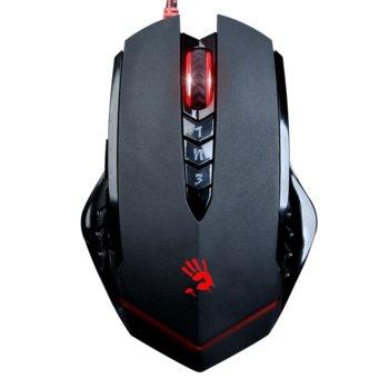 Мишка A4Tech Bloody V8m, оптична (3200dpi), 8 програмируеми бутона, USB, черна, гейминг image